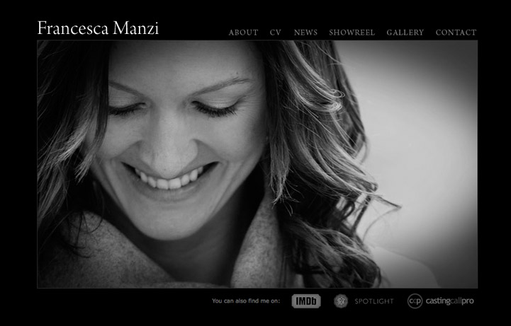 a website for Francesca Manzi