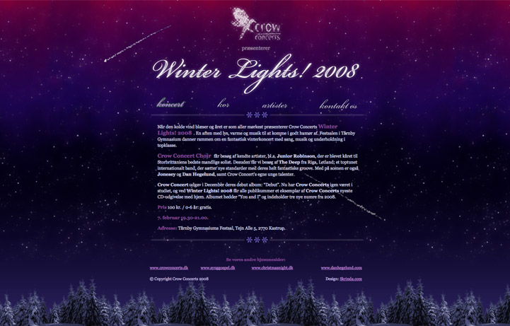 a website for Winter Lights