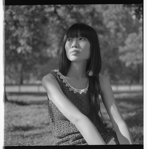Rolleiflex, black and white film.